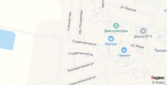Студенческая улица в Пролетарске с номерами домов на карте. Спутник и схема онлайн