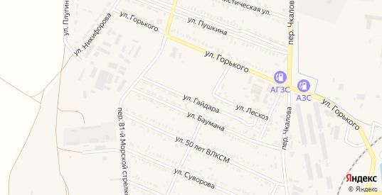 Улица Гайдара в Пролетарске с номерами домов на карте. Спутник и схема онлайн