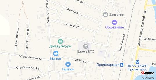 Дорожная улица в Пролетарске с номерами домов на карте. Спутник и схема онлайн