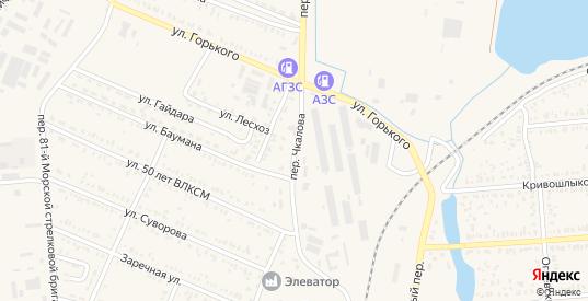 Переулок Чкалова в Пролетарске с номерами домов на карте. Спутник и схема онлайн