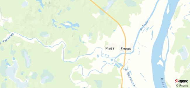 Узиково на карте