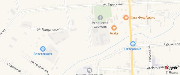 Переулок Тараскина на карте Шацка с номерами домов