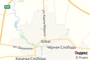 Карта г. Шацк Рязанская область