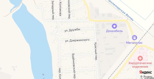 Улица Дзержинского в Пролетарске с номерами домов на карте. Спутник и схема онлайн