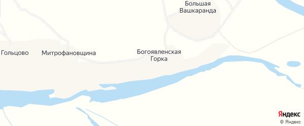 Карта Богоявленской деревни в Архангельской области с улицами и номерами домов