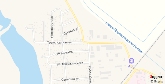 Транспортная улица в Пролетарске с номерами домов на карте. Спутник и схема онлайн
