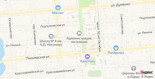 Улица Ленина в Пролетарске с номерами домов на карте. Спутник и схема онлайн
