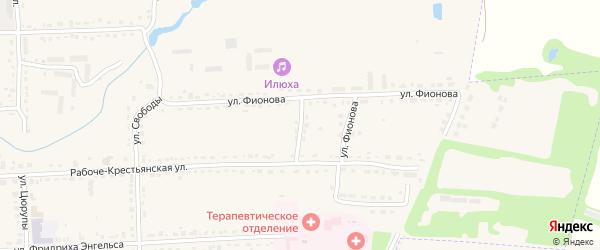Улица Фионова на карте Шацка с номерами домов