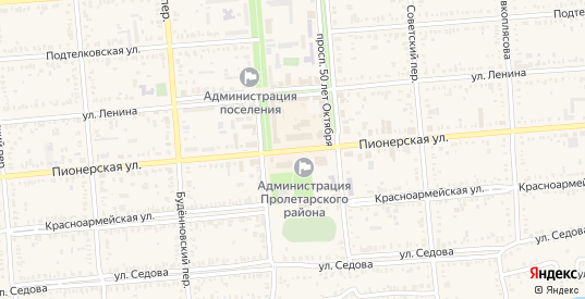 Пионерская улица в Пролетарске с номерами домов на карте. Спутник и схема онлайн