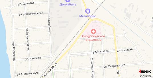Улица Чернышевского в Пролетарске с номерами домов на карте. Спутник и схема онлайн