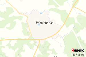 Карта г. Родники Ивановская область