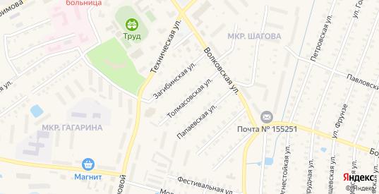 Толмасовская улица в Родники с номерами домов на карте. Спутник и схема онлайн