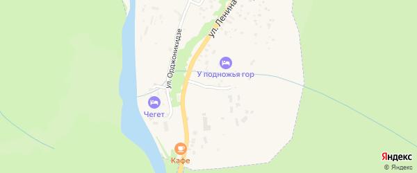 Родниковый переулок на карте Теберды с номерами домов
