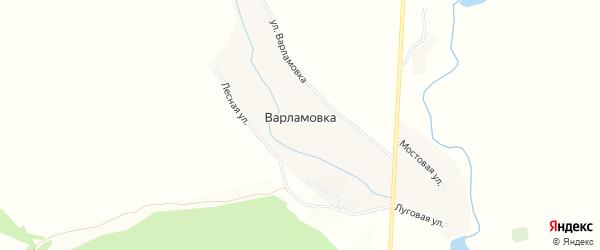Карта хутора Варламовки в Ростовской области с улицами и номерами домов