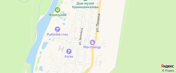 Улица К.Маркса на карте Теберды с номерами домов