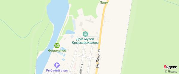 Домбайская улица на карте Теберды с номерами домов