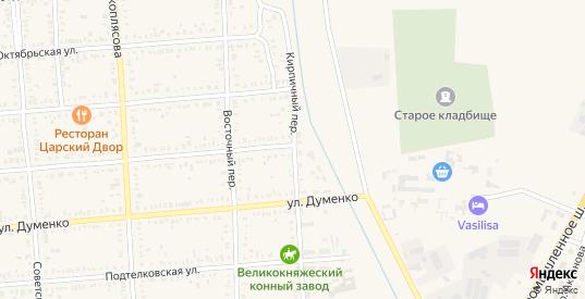 Кирпичный переулок в Пролетарске с номерами домов на карте. Спутник и схема онлайн