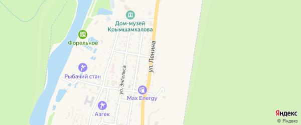 Улица Ленина на карте Теберды с номерами домов