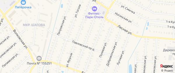 Улица Дзержинского на карте Родники с номерами домов