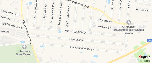 Ленинградская улица на карте Родники с номерами домов