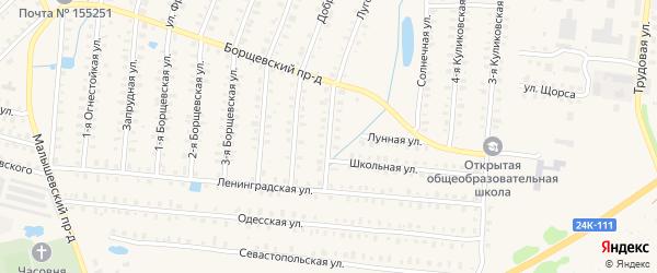 Борщевская 6-я улица на карте Родники с номерами домов