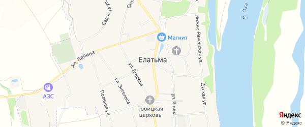 Карта поселка Елатьмы в Рязанской области с улицами и номерами домов