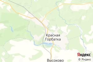 Карта пгт Красная Горбатка Владимирская область