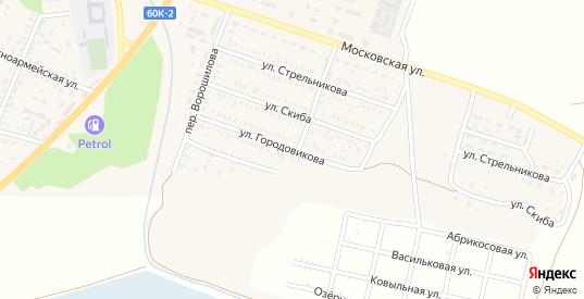 Улица Городовикова в Пролетарске с номерами домов на карте. Спутник и схема онлайн