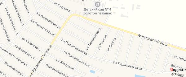 Улица Леваневского на карте Родники с номерами домов