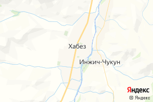 Карта с. Хабез Карачаево-Черкесская Республика