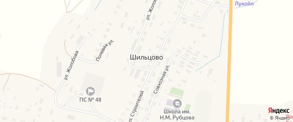 Полевая улица на карте деревни Шильцово с номерами домов