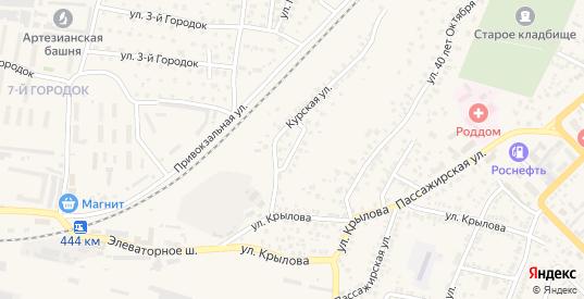 Курский переулок в Моршанске с номерами домов на карте. Спутник и схема онлайн