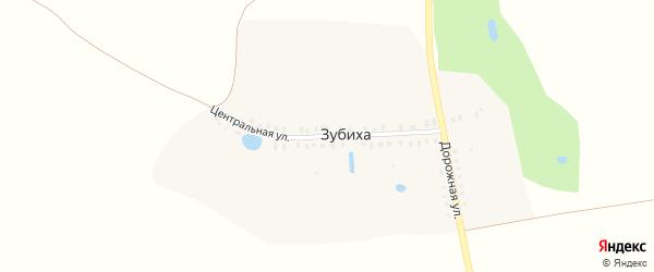 Центральная улица на карте деревни Зубихи Ивановской области с номерами домов