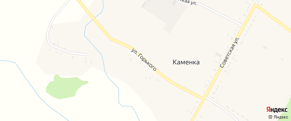 Улица Горького на карте села Каменки Тамбовской области с номерами домов