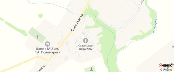 Центральная улица на карте села Каменки Тамбовской области с номерами домов