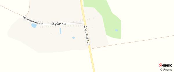 Дорожная улица на карте деревни Зубихи Ивановской области с номерами домов