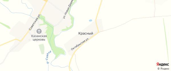 Карта Красного поселка в Тамбовской области с улицами и номерами домов