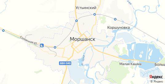 Карта Моршанска с улицами и домами подробная. Показать со спутника номера домов онлайн