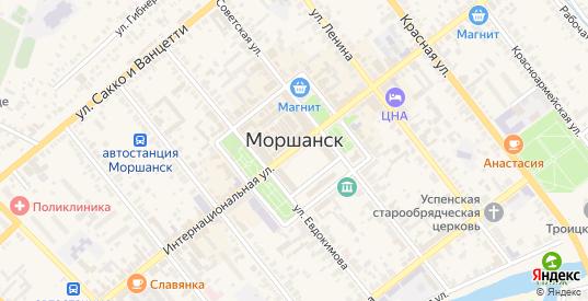 Улица поселок Газопровод в Моршанске с номерами домов на карте. Спутник и схема онлайн