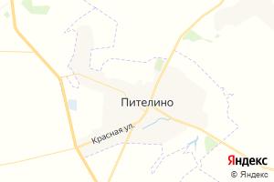 Карта пгт Пителино Рязанская область