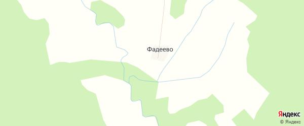 Карта деревни Фадеево в Костромской области с улицами и номерами домов
