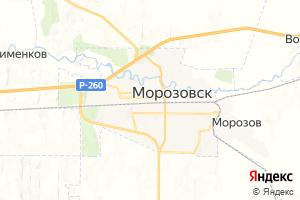 Карта г. Морозовск Ростовская область