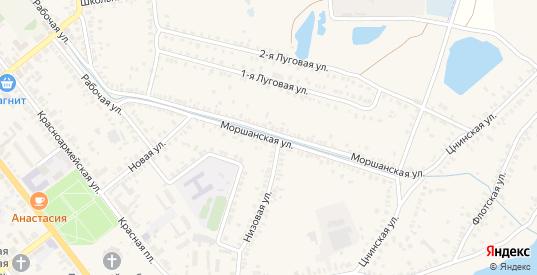 Моршанская улица в Моршанске с номерами домов на карте. Спутник и схема онлайн