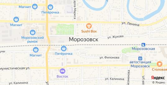 СНТ Энергетик в Морозовске с номерами домов на карте. Спутник и схема онлайн