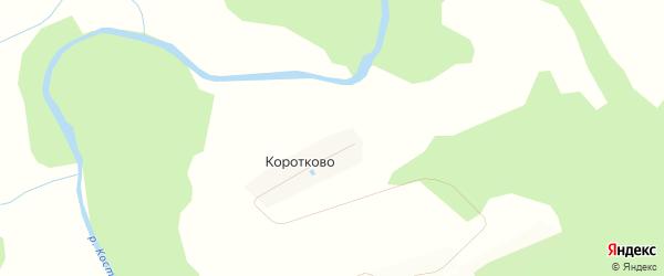 Карта деревни Коротково в Костромской области с улицами и номерами домов