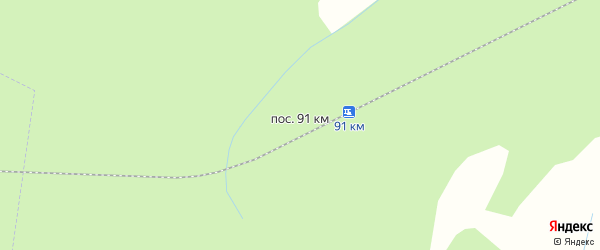 Карта поселка 91 км ж.д. в Архангельской области с улицами и номерами домов