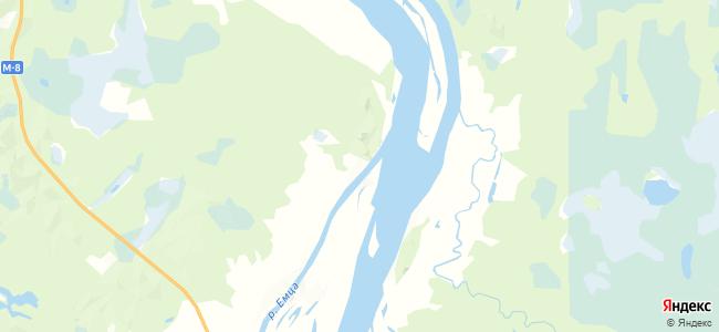 Усть-Емца на карте