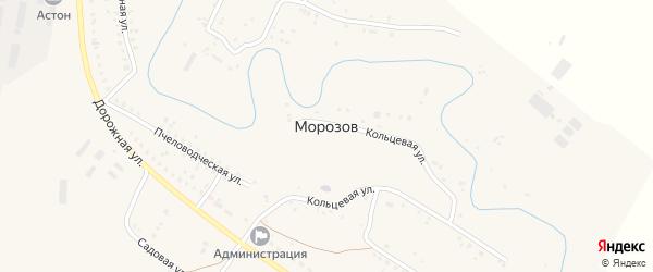 Сад Гвоздика на карте хутора Морозова Ростовской области с номерами домов