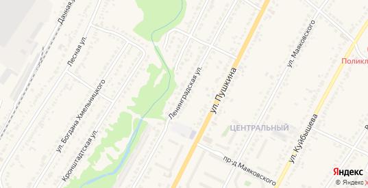 Ленинградская улица в Рассказово с номерами домов на карте. Спутник и схема онлайн