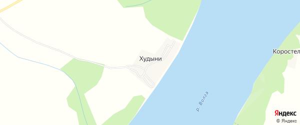 Карта деревни Худыни в Ивановской области с улицами и номерами домов